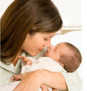 Frau mit Baby Frauenarzt Praxis Gynäkologe Dr Rotmann Rodgau