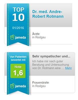Dr. Rotmann Bewertungen auf Jameda